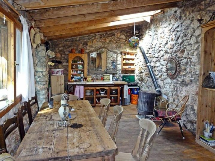 Peaceful stone casita